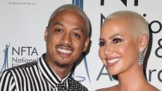 "Amber Rose and Alexander ""AE: EdwAmber Rose and Alexander ""AE"" Edwards at the National Film and Television Awards"
