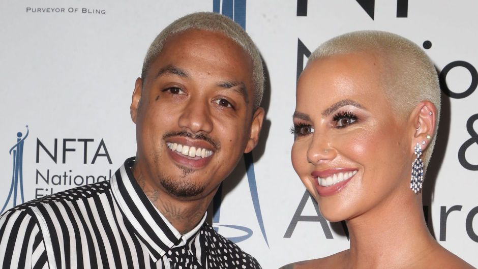 """Amber Rose and Alexander """"AE: EdwAmber Rose and Alexander """"AE"""" Edwards at the National Film and Television Awards"""