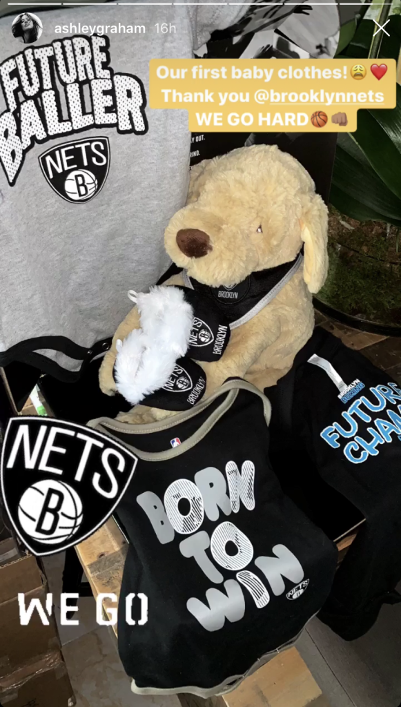 Ashley Graham's Baby's First Clothes from the NY Nets