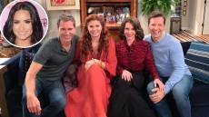 Demi Lovato and the cast of 'Will & Grace'