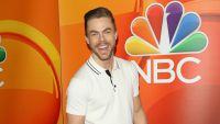 Derek Hough Wearing a White Shirt