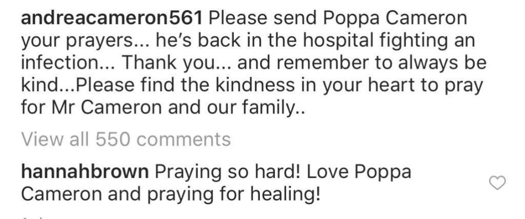 Hannah Brown Instagram Comment
