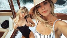 Kaitlynn Carter Takes Selfie with Miley Cyrus