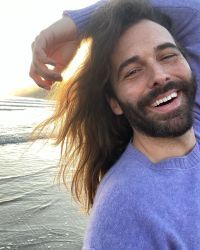 Jonathan Van Ness Showing off His Freckles on the Beach