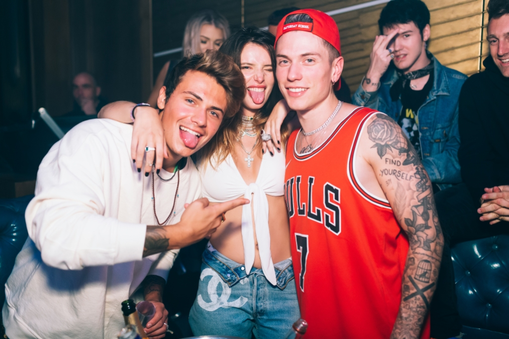 Bella Thorne and Boyfriend at TAO