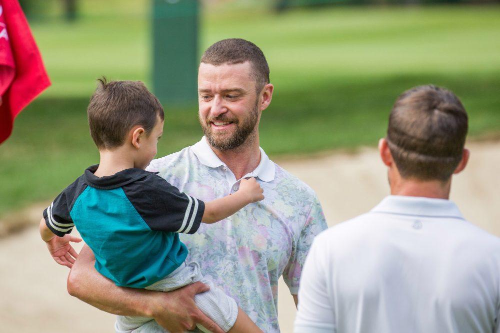 Justin Timberlake and Jessica Biel Teach Son Silas to Golf in Switzerland