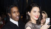 Kendall Jenner Wearing a Sheer Black Dress With ASAP Rocky in a Black Suit