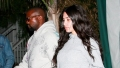 Kim Kardashian makeup free Kanye West medical brace