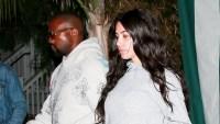 Kim Kardashian makeup free Kanye West medical brace