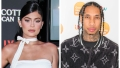 A split image of Kylie Jenner and Tyga