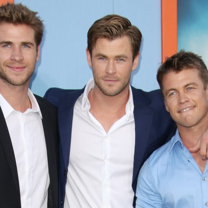 Liam Hemsworth with Brothers Chris and Luke on Red Carpet