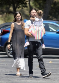 Brandon Jenner and pregnant girlfriend Cayley Stoker Walk Together With His Daughter Eva