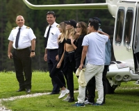 Miley Cyrus Kaitlynn Carter Helicopter Ride