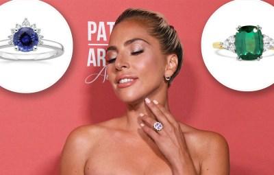 Lady Gaga Modern Engagement Ring Gems