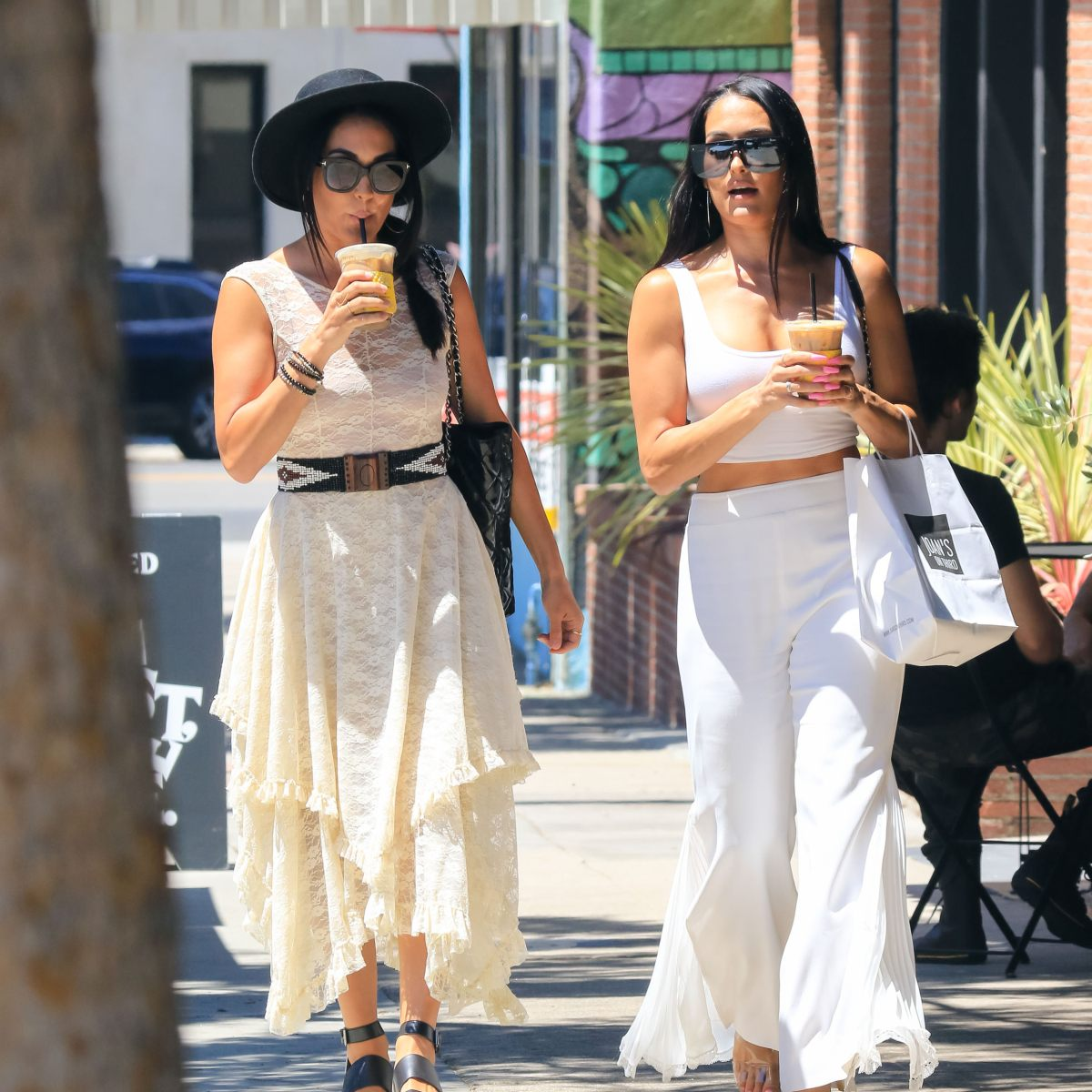 Nikki and Brie Bella Look Like Boho Goddesses While Grabbing Coffee in L.A. — See Photos!