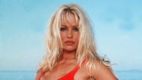 Pamela Anderson Dating Red Baywatch Swimsuit