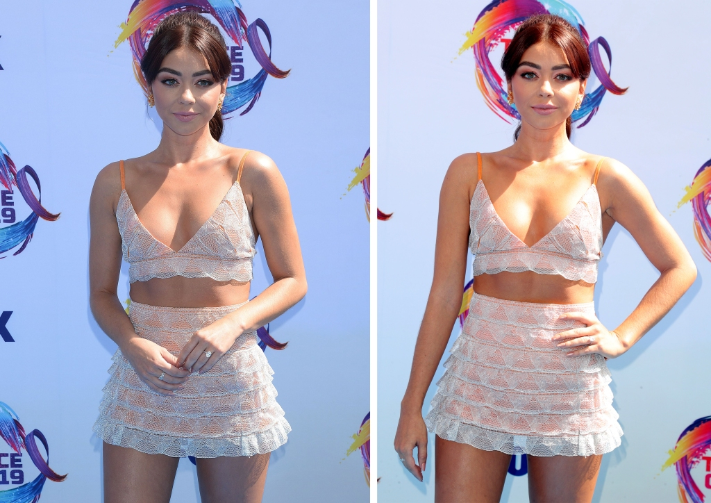 Sarah Hyland Wears Two-Piece at Teen Choice Awards