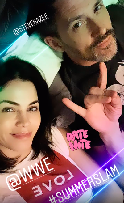Jenna Dewan and Steve Kazee Watch Wrestling WWE SummerSlam While Cuddling on the Couch