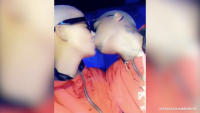 Amber Rose and Alexander Edwards Kissing on Instagram on the Night She Got Pregnant