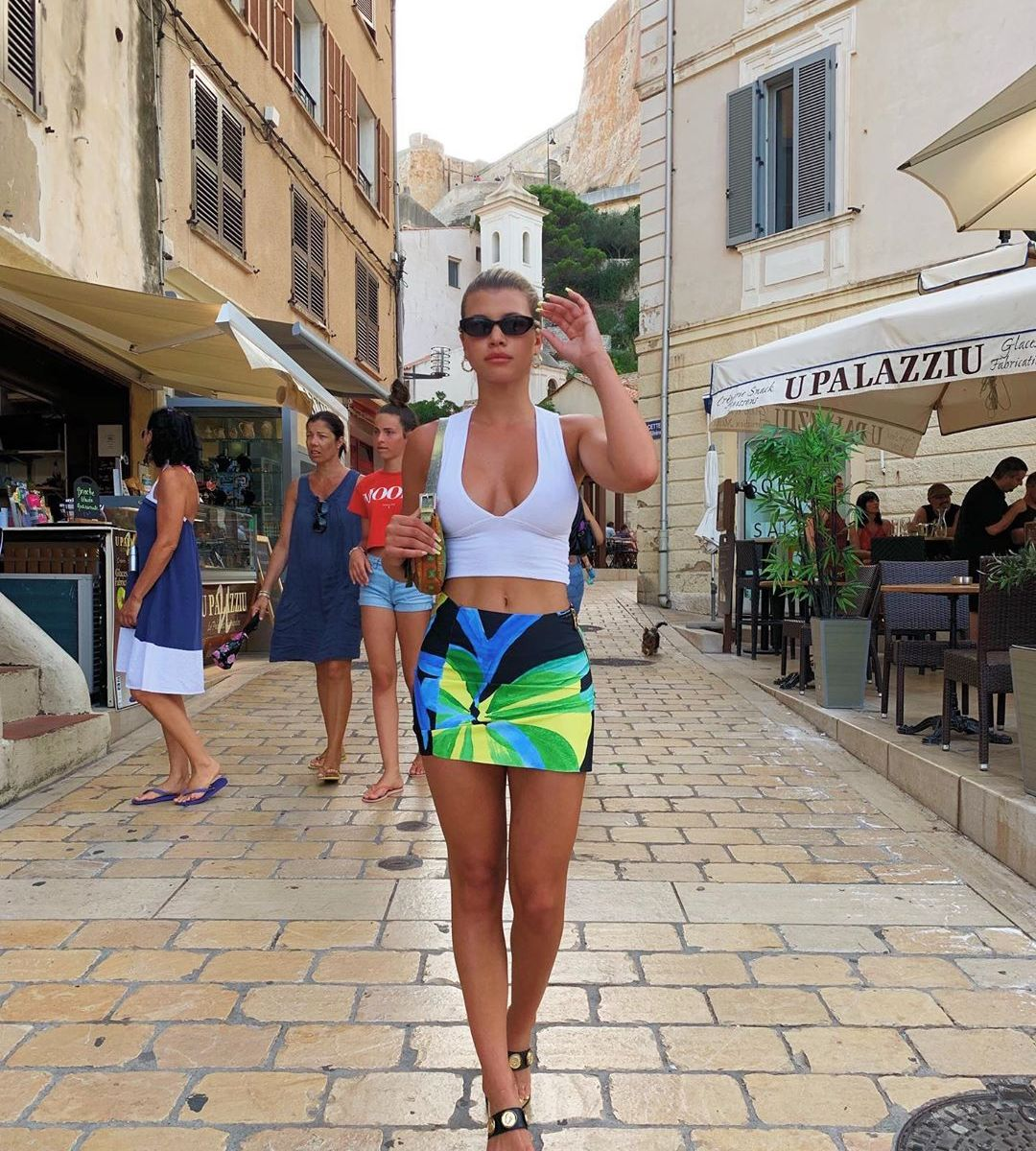 Hot Girl Summer Alert! Sofia Richie Stuns in a Colorful Miniskirt and Low-Cut Crop Top