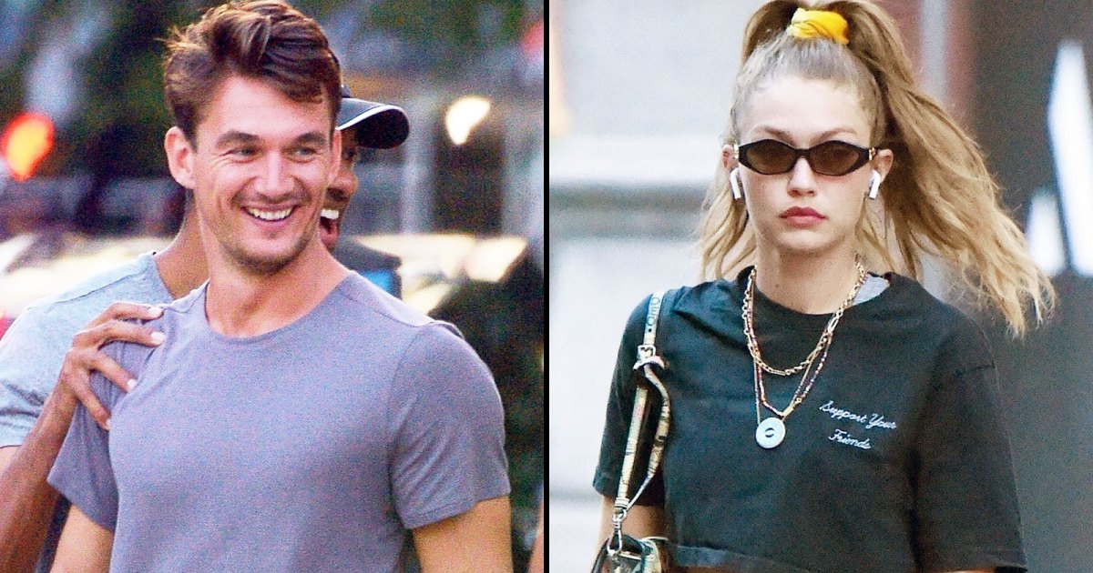Tyler Cameron and Gigi Hadid were spotted at the same NYFW show