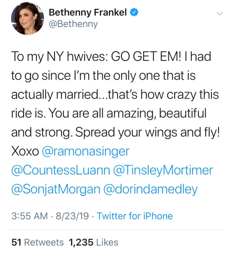 Bethenny Frankel Married Tweet