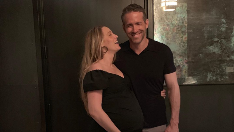 Blake Lively Flaunts Baby Bump in Husband Ryan Reynolds' Sweet (and Hilarious) Birthday Tribute