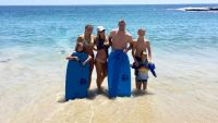 Pregnant Christina Anstead in a bikini with Ant and Family