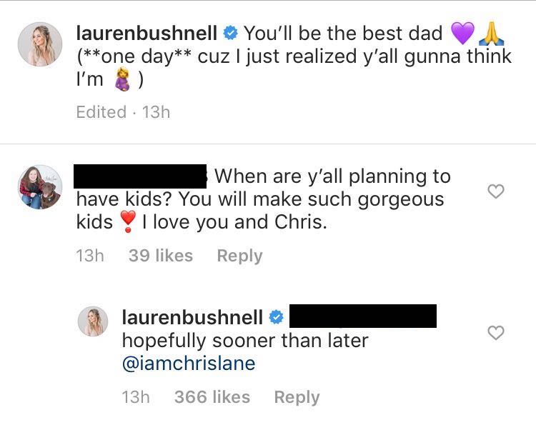 Lauren Bushnell Comment About Having Kids With Chris Lane