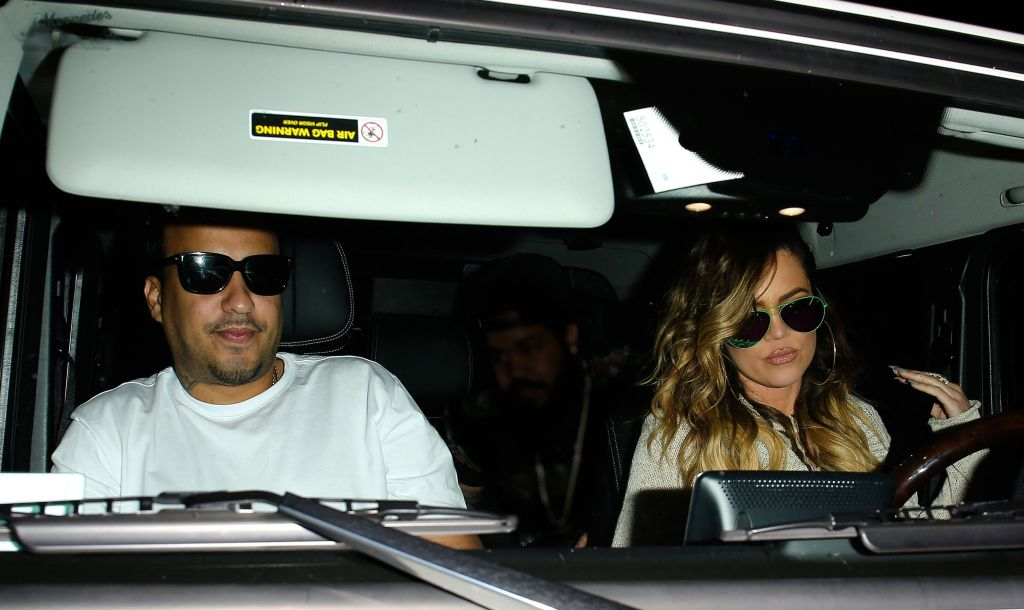 Khloe Kardashian and French Montana in an Airport