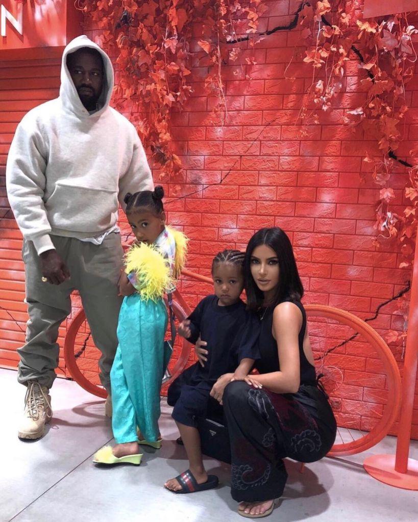 Kim Kardashian Kanye West North West Saint West Japan Vacation Family Photo