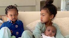 Kim Kardashian Posts Photo of North West Saint West and Psalm West Sitting Together