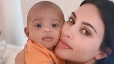 Kim Kardashian and Psalm West Snuggle He's the Most Calm Baby