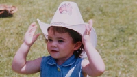 Baby Kylie Jenner in a Cowboy Hat