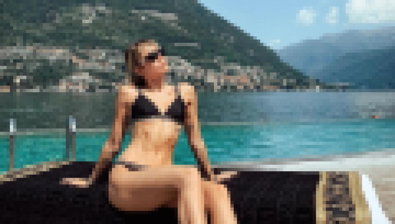 Miley Cyrus in a Versace Bikini