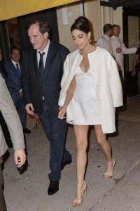 Quentin Tarantino, Daniela Pick and enjoy a star studded dinner at Socialista restaurant in New York City.