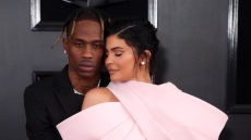 Travis Scott Models Louis Vuitton Bag for Kylie Jenner Italy Vacation