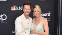 Tyler and Hayley Hubbard Smiling With Baby Bump Second Child Son Luca Born