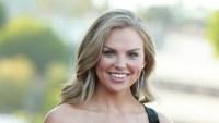 Hannah Brown Smiling Black Velvet Dress Dancing With the Stars Season 28