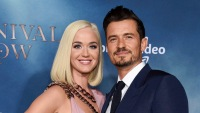 Orlando Bloom Katy Perry Carnival Row Red Carpet Engaged Relationship Love Notes