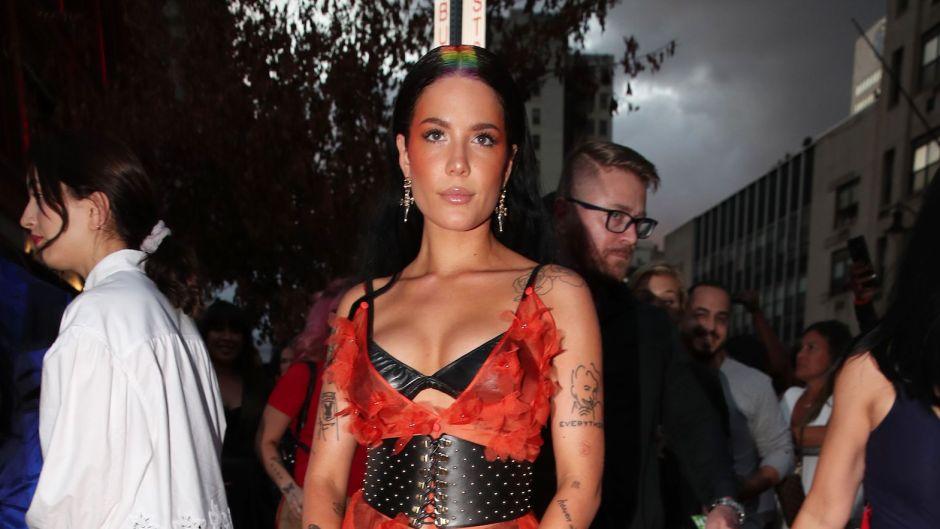Halsey Sheer Red Dress MTV VMAs 2019