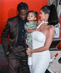 Travis Scott Stormi Webster and Kylie Jenner Look Happy at Look Mom I can Fly Netflix Premiere