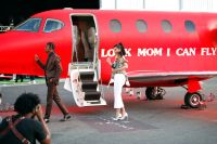 Look Mom I Can Fly Private Plane Travis Scott Kylie Jenner and Stormi Webster