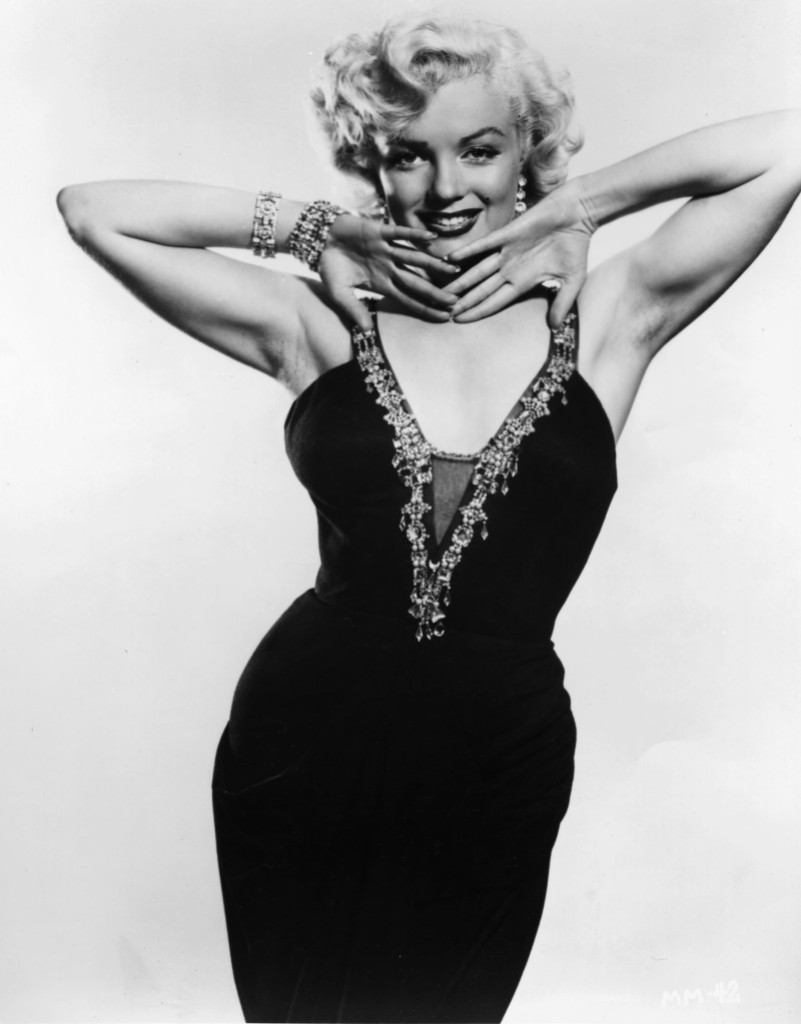 Marilyn Monroe Poses in Black and White Photo