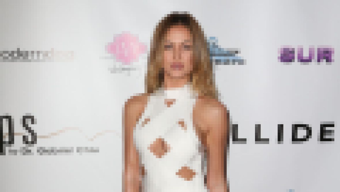Vanderpump Rules Star Lala Kent Red Carpet White Crisscross Dress