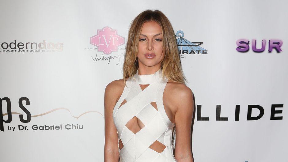 Vanderpump Rules Star Lala Kent Red Carpet White Crisscross Dress