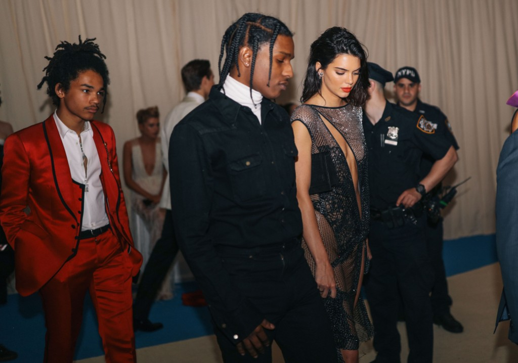 Kendall Jenner Wearing a Sheer Black Dress With A$AP Rocky
