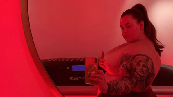 Tess Holliday Gives a Powerful Recommendation to Fans With a Sexy Topless Selfie: 'Love Yourself As Is'