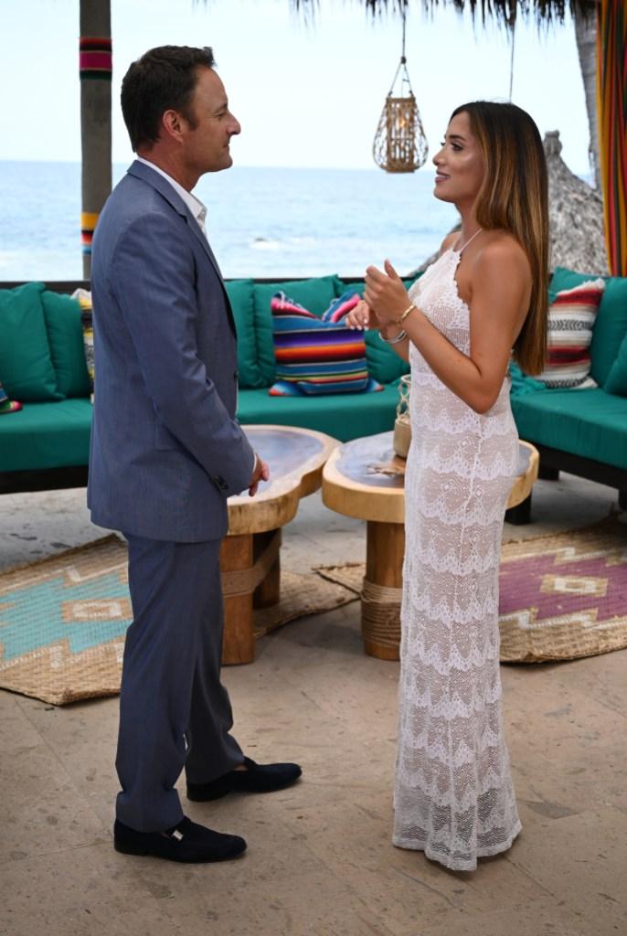 CHRIS HARRISON, NICOLE LOPEZ-ALVAR During Bachelor in Paradise Finale Proposals