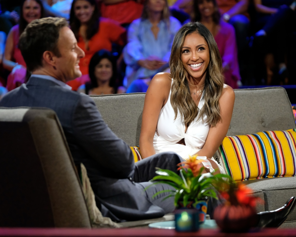 Tayshia Adams and Chris Harrison Bachelor in Paradise finale